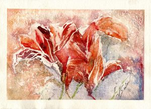 Watercolor - Lilies