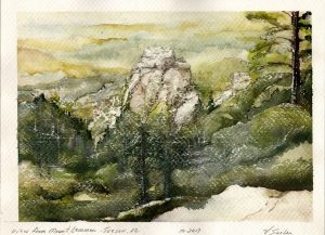 Watercolor - View from Mount Lemon