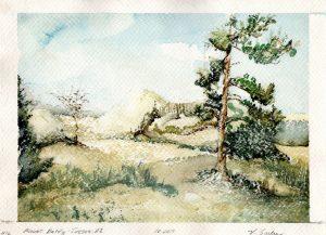 Watercolor - Mount Baldy