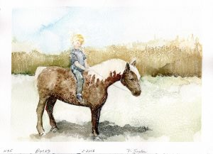 Watercolor - Bucky