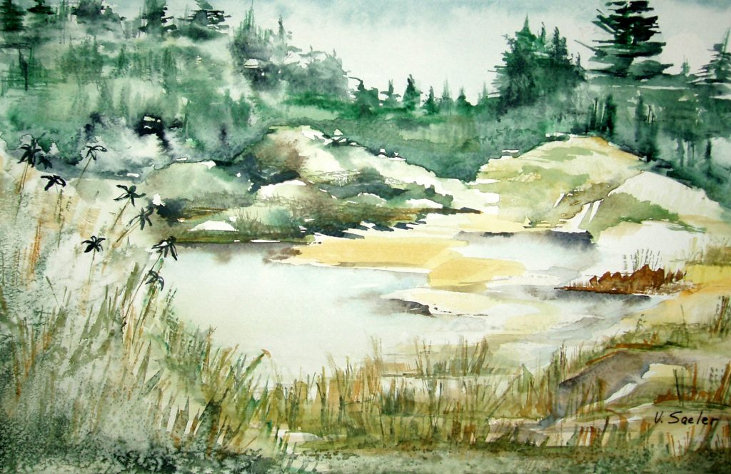 Watercolor - South Fork of the Eel River