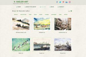 Watercolor Website Gallery Screen Shot