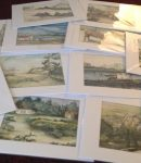 Collage of Watercolors Paintings